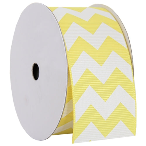 "Grosgrain Chevron Ribbon 1 1/2"" - 5 Yards - Yellow - Threadart.com"