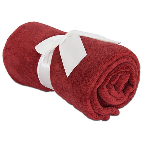 Pack of 3 Plush Fleece Blanket - Maroon - Threadart.com