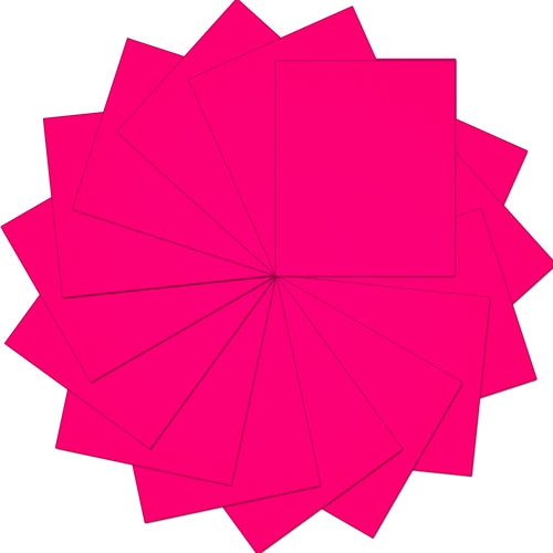 "Pack of  10""x12"" Sheets Solid Color Heat Transfer Vinyl -  Neon Pink - 15 sheets - Threadart.com"