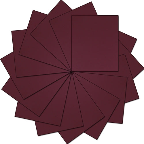 "Pack of  10""x12"" Sheets Solid Color Heat Transfer Vinyl -  Maroon - 15 sheets - Threadart.com"