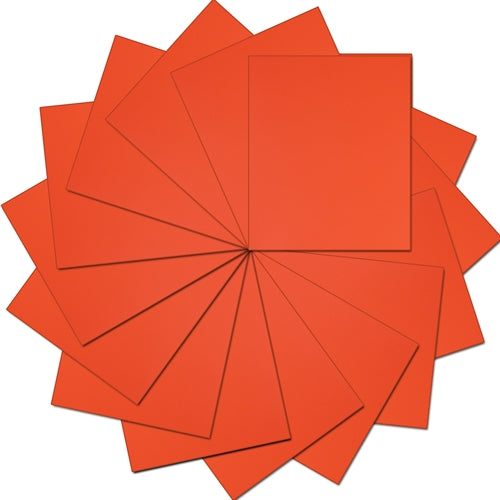 "Pack of 10""x12"" Sheets Solid Color Heat Transfer Vinyl -  Orange - 15 sheets - Threadart.com"