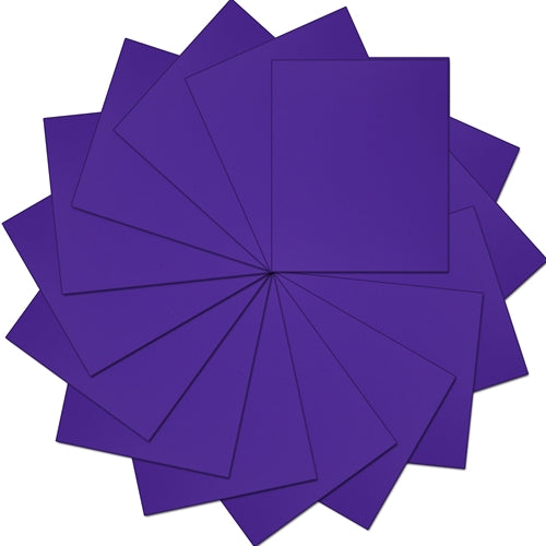 "Pack of 10""x12"" Sheets Solid Color Heat Transfer Vinyl -  Purple - 15 sheets - Threadart.com"