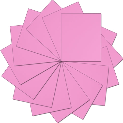 "Pack of 10""x12"" Sheets Solid Color Heat Transfer Vinyl - Pink - 15 sheets - Threadart.com"