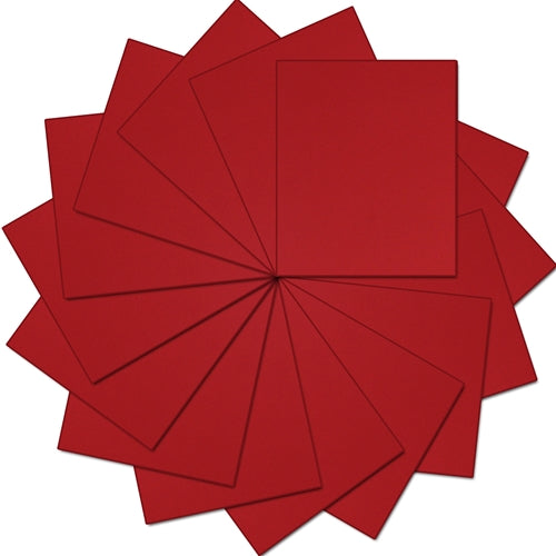 "Pack of 10""x12"" Sheets Solid Color Heat Transfer Vinyl -  Red - 15 sheets - Threadart.com"