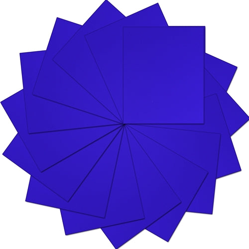 "Pack of 10""x12"" Sheets Solid Color Heat Transfer Vinyl -  Royal Blue - 15 sheets - Threadart.com"