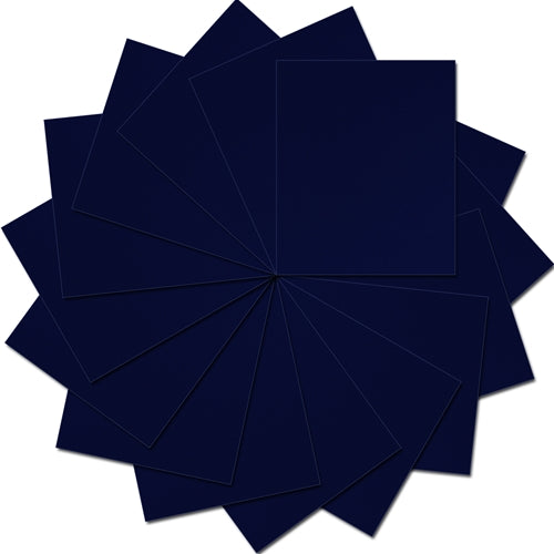 "Pack of 10""x12"" Sheets Solid Color Heat Transfer Vinyl -  Navy - 15 sheets - Threadart.com"