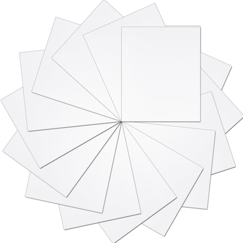 "Pack of 10""x12"" Sheets Solid Color Heat Transfer Vinyl - White - 15 sheets - Threadart.com"