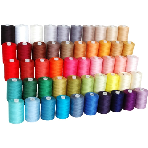 Quilting Thread Bundle - 50 Spools of Premium Cotton - 1000 Meters Each - Threadart.com