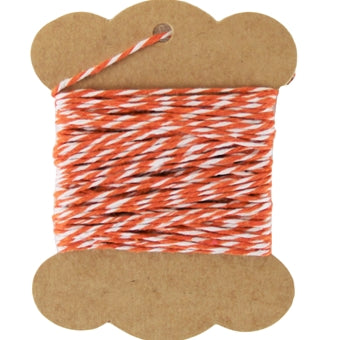 Cotton Baker's Twine - 10 Yards - ColorTwist - Orange & White - Threadart.com