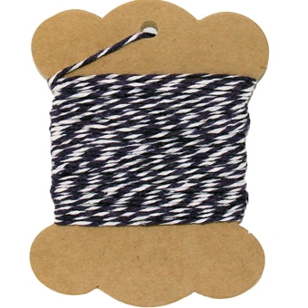 Cotton Baker's Twine - 10 Yards - ColorTwist - Black & White - Threadart.com