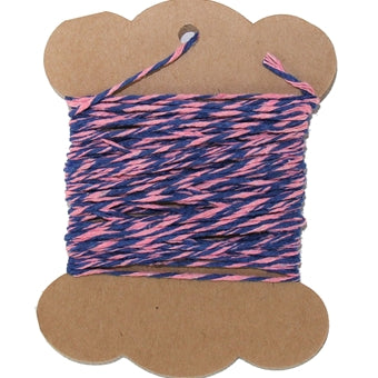Cotton Baker's Twine - 10 Yards - ColorTwist - Pink & Blue - Threadart.com