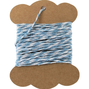 Cotton Baker's Twine - 10 Yards - ColorTwist - Blue & White - Threadart.com