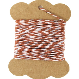 Cotton Baker's Twine - 10 Yards - ColorTwist - Coffee & White - Threadart.com