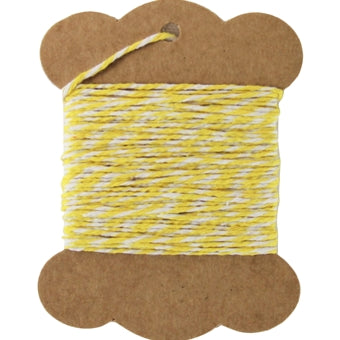 Cotton Baker's Twine - 10 Yards - ColorTwist - Yellow & White - Threadart.com