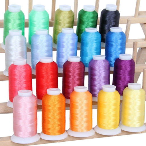 20 Colors of Polyester Embroidery Thread Set - Fresh Colors - Threadart.com