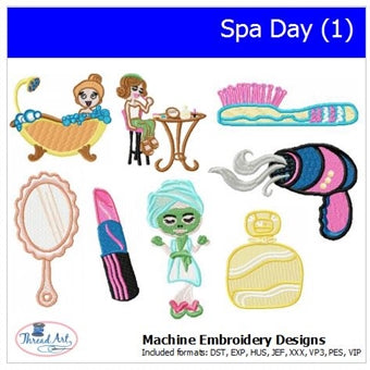 Machine Embroidery Designs -Spa Day(1) - Threadart.com