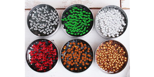 Rhinestone Bundle - Holiday Colors - Hot Fix Crystal & Metallic Rhinestones - Threadart.com