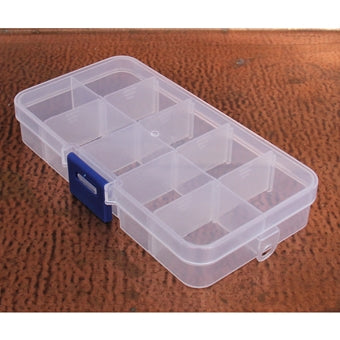 10 Compartment Storage Box With Removable Dividers - Threadart.com