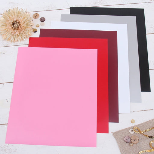 "6 Valentine Solid Colors 10"" x 12"" Heat Transfer Vinyl Precut Sheets - Threadart.com"