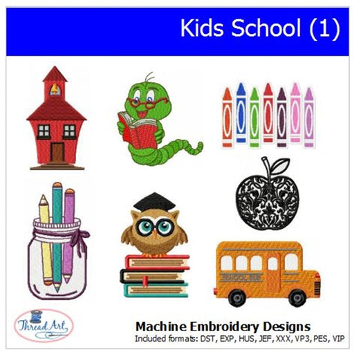 Machine Embroidery Designs -Kids School(1) - Threadart.com