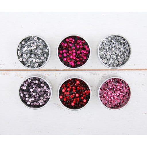 Rhinestone Bundle - Valentine Colors  - Hot Fix Crystal & Metallic Rhinestones - Threadart.com