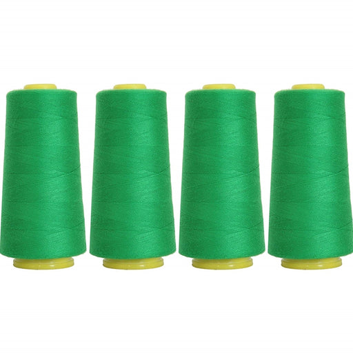Four Cone Set of Polyester Serger Thread - Dk Grass 219 - 2750 Yards Each - Threadart.com