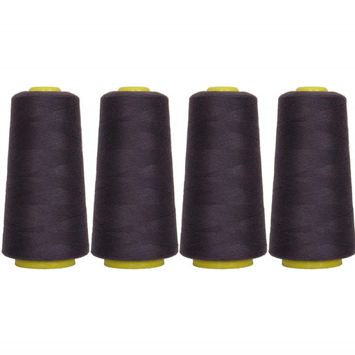 Four Cone Set of Polyester Serger Thread - Dk Navy 441 - 2750 Yards Each - Threadart.com