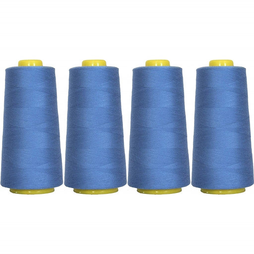 Four Cone Set of Polyester Serger Thread - Dusty Navy 229 - 2750 Yards Each - Threadart.com