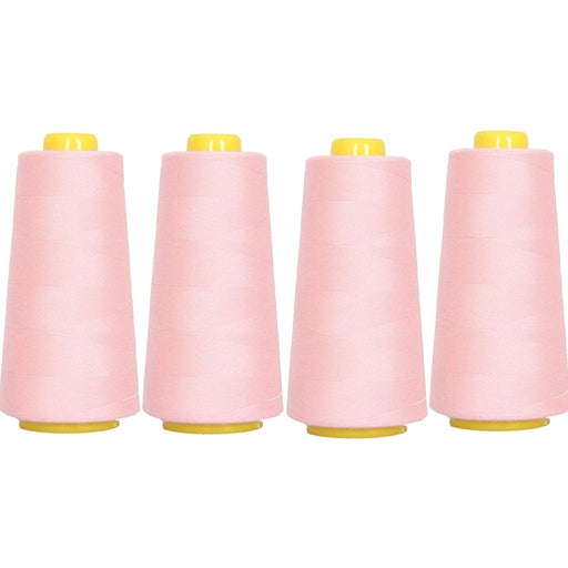 Four Cone Set of Polyester Serger Thread - Mauve 141 - 2750 Yards Each - Threadart.com