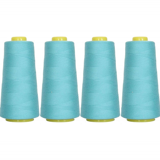 Four Cone Set of Polyester Serger Thread - Turquoise 464 - 2750 Yards Each - Threadart.com