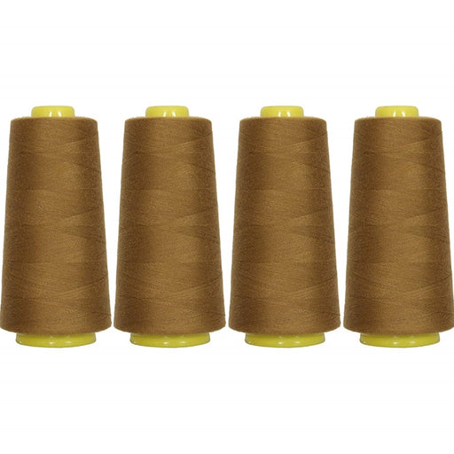 Four Cone Set of Polyester Serger Thread - Olive 340 - 2750 Yards Each - Threadart.com