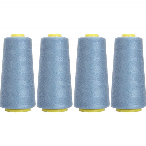 Four Cone Set of Polyester Serger Thread - Oriental Blue 241 - 2750 Yards Each - Threadart.com