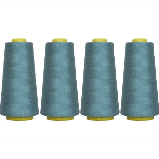 Four Cone Set of Polyester Serger Thread - Ozone 322 - 2750 Yards Each - Threadart.com