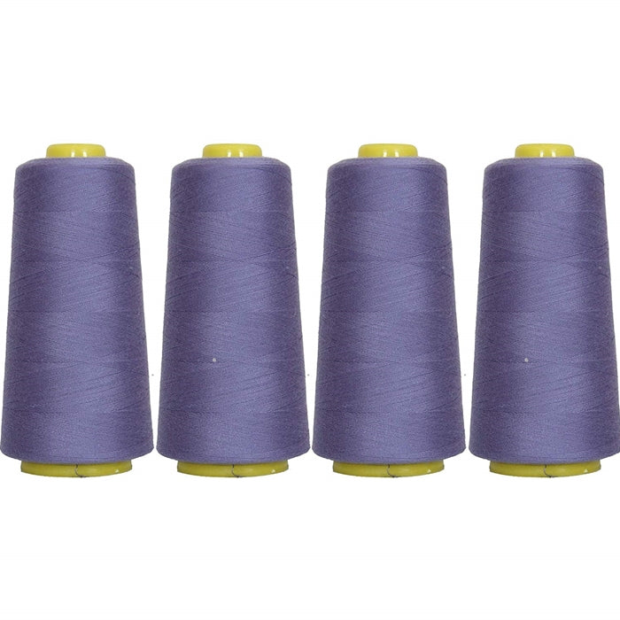 Four Cone Set of Polyester Serger Thread - Periwinkle 278 - 2750 Yards Each - Threadart.com