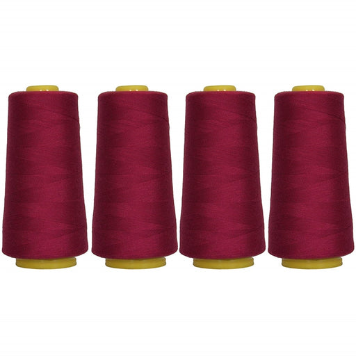 Four Cone Set of Polyester Serger Thread - Rose Jubilee 388 - 2750 Yards Each - Threadart.com