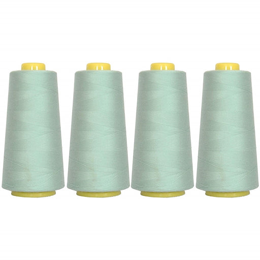 Four Cone Set of Polyester Serger Thread - Sea Foam 208 - 2750 Yards Each - Threadart.com