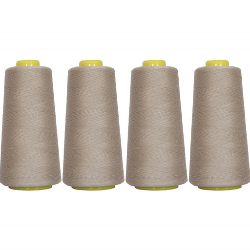 Four Cone Set of Polyester Serger Thread - Silver Grey 414 - 2750 Yards Each - Threadart.com