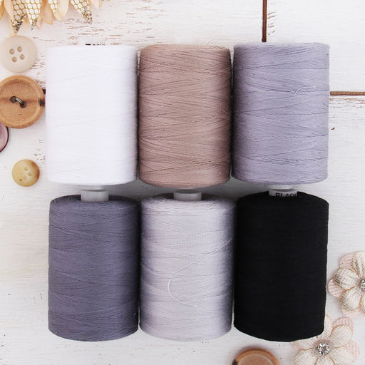 Cotton Quilting Thread Set - 6 Grey Tones - 1000 Meters - Threadart.com