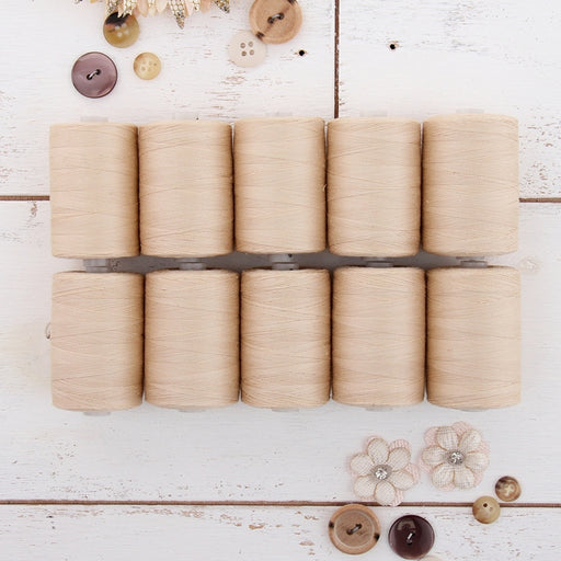 Cotton Quilting Thread Set - 10 Natural Tones - 1000 Meters - Threadart.com