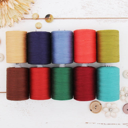 Cotton Quilting Thread Set - 10 Jewel Tones - 1000 Meters - Threadart.com