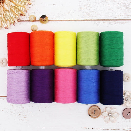 Cotton Quilting Thread Set - 10 Rainbow Tones - 1000 Meters - Threadart.com