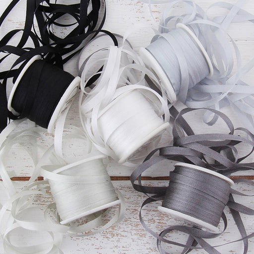 4mm Silk Ribbon Set - Grey Shades - Five Spool Collection - Threadart.com