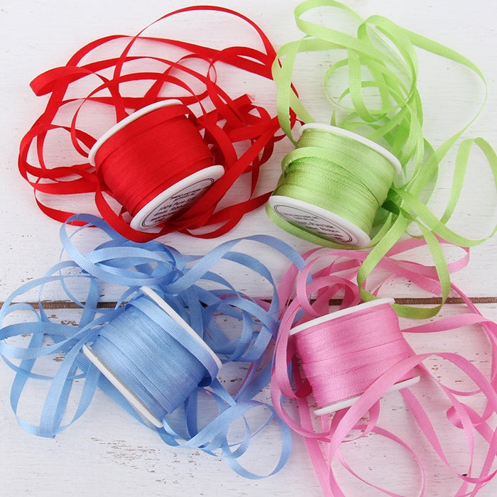 4mm Silk Ribbon Set - Bright Shades - Four Spool Collection - Threadart.com