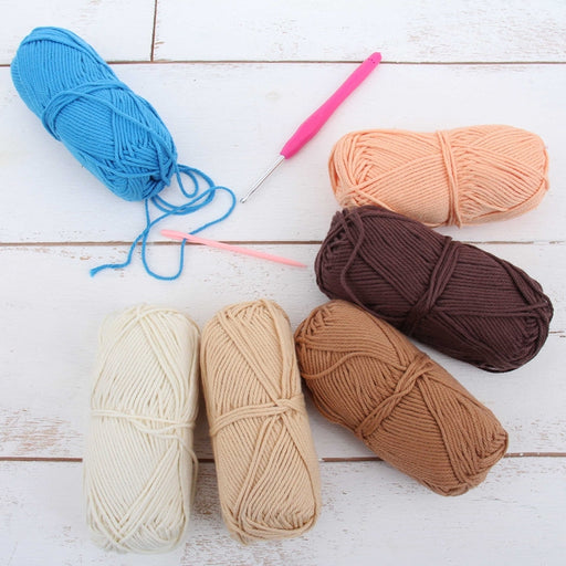 Crochet 100% Pure Cotton Yarn Set  - 6 Pack of French Bouquet Colors - Threadart.com