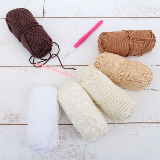 Crochet 100% Pure Cotton Yarn Set  - 6 Pack of Neutral Colors - Threadart.com