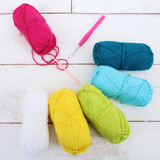 Crochet 100% Pure Cotton Yarn Set  - 6 Pack of Spring Flower Colors - Threadart.com