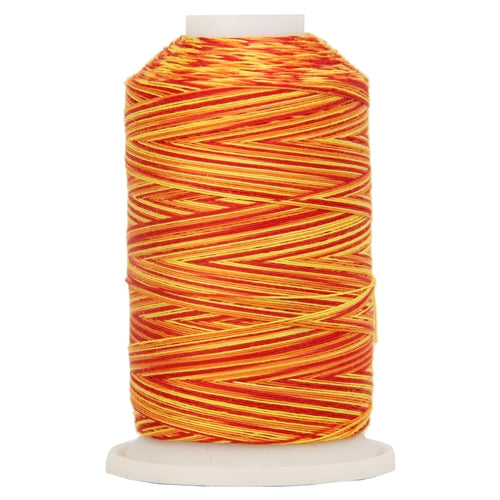 Multicolor Variegated Cotton Thread 600M - Fiery Sunrise - Threadart.com
