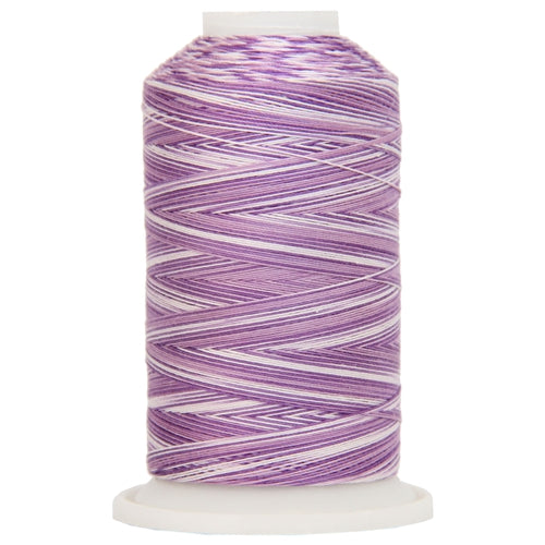 Multicolor Variegated Cotton Thread 600M - Violets - Threadart.com