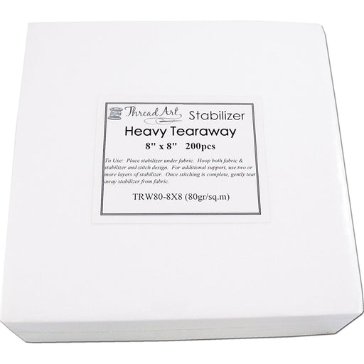 Heavy Tearaway Embroidery Backing Stabilizer - 8x8 200 precut sheets - Threadart.com