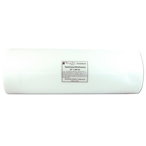 Tearaway/Washaway Embroidery Backing Stabilizer - 20 inch 100 yd. roll - Threadart.com